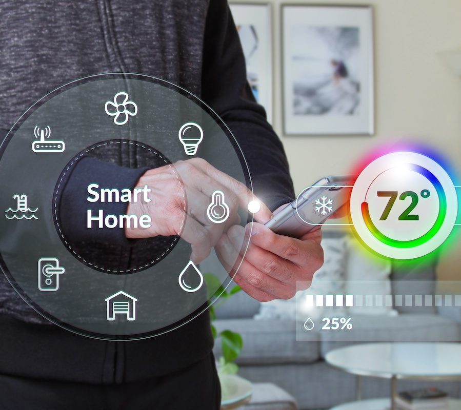 According to a recent survey by Houzz, almost half of all home renovations  now include at least one smart device or system for the home.